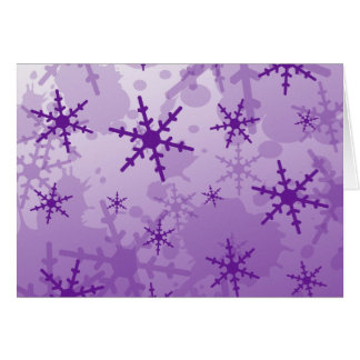 Purple Snowflake Card