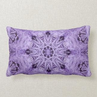 Purple Snowflake Lumbar Cushion