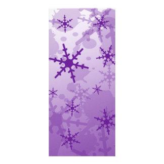 Purple Snowflake Rack Card