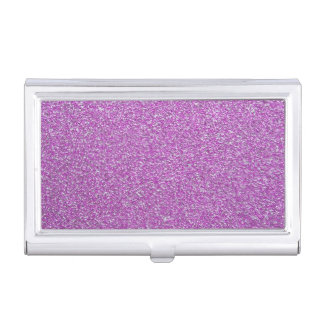 Purple Sparkles Base Add Your Own Business Card Holder