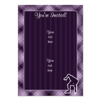 Purple Speed Skater Personalized Invite