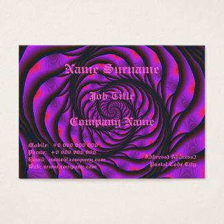 Purple Spiral Ladder Chubby Business Card