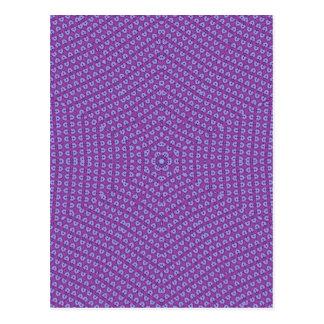 Purple Star pattern Postcard