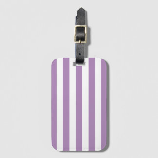 Purple Stripe Pattern Baggage Labels Luggage Tag