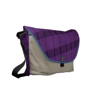 Purple Stripes on More Purple Courier Bag