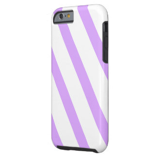 Purple stripes tough iPhone 6 case