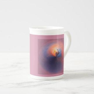 Purple sunset tea cup