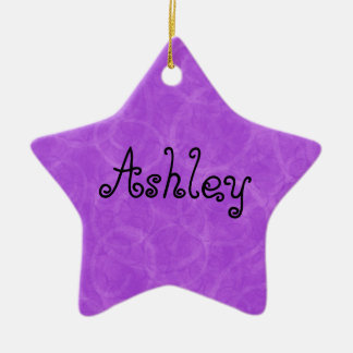 Purple Swirl Custom Name Christmas Ornament