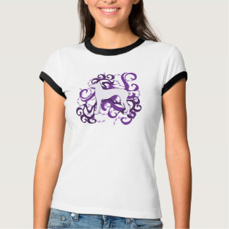 Purple Swirl Ibizan Hound T-Shirt