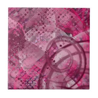 Purple Swirls & Graffiti Small Square Tile