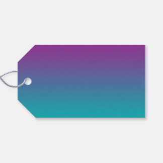 Purple & Teal Ombre Gift Tags