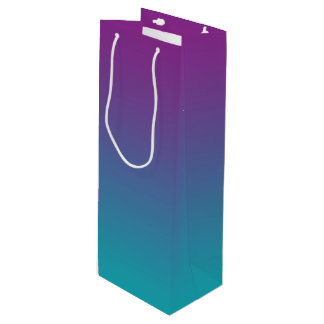 Purple & Teal Ombre Wine Gift Bag