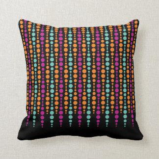 Purple, Teal, Orange Vertical Dot Pattern Cushions