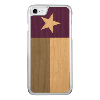 Purple Texas Flag Carved iPhone 8/7 Case