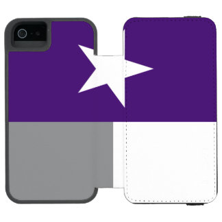 Purple Texas Flag Incipio Watson™ iPhone 5 Wallet Case