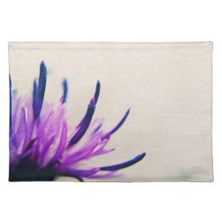 Purple Thistle Flower Petals Placemat