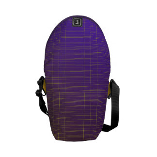 Purple to Gold Pattern Courier Bag
