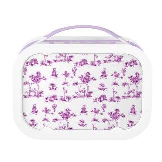 Purple Toile Unicorn Lunchbox