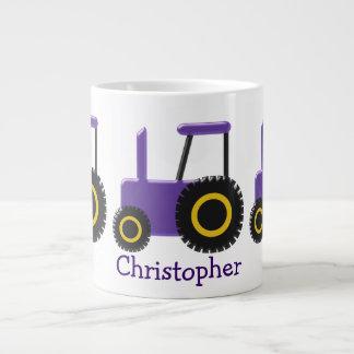 Purple Tractor Just Add Name Large Coffee Mug