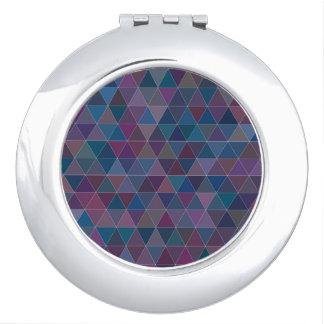 Purple Triangle Round Compact Mirror