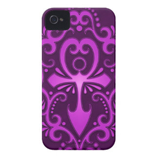Purple Tribal Ankh Case-Mate iPhone 4 Case