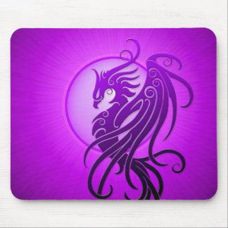 Purple Tribal Phoenix Mouse Pad