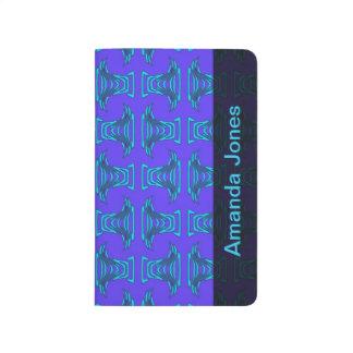 Purple Turquoise Tiki Pattern Journal
