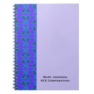 Purple Turquoise Tiki Pattern Notebook