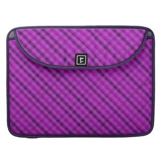 Purple Vibrant Plaid Custom Macbook Pro Sleeve