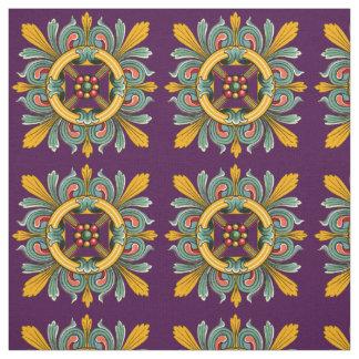 Purple Victorian Tile Design Fabric