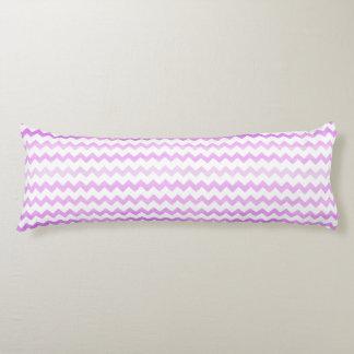 Purple Watercolor Chevron Zigzag Pattern Body Cushion