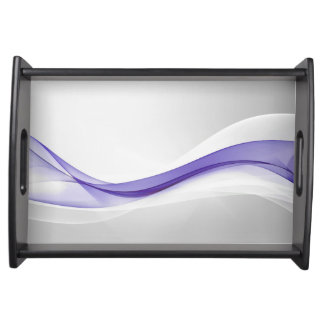 Purple Wave Abstract Serving Tray