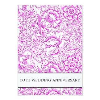 purple wedding anniversary floral card