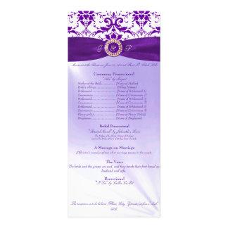 Purple Wedding Ceremony Program Rack Cards