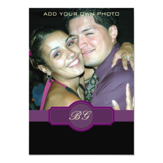 Purple Wedding Invitations Monograms Photo