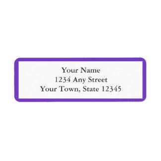 Purple & White Envelope Return Address Labels Custom Return Address Labels