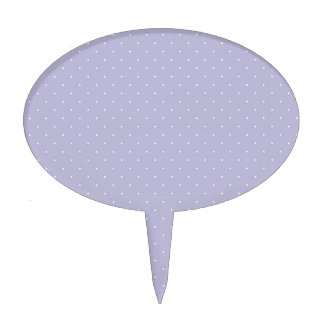 Purple White Polka Dots Cake Toppers