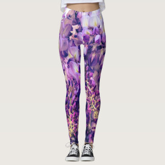 Purple Wisteria Leggings