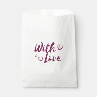 Purple With Love Hearts - Wedding, Gifts Favour Bags