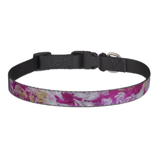 Purple Yellow and White Design Dog Collar