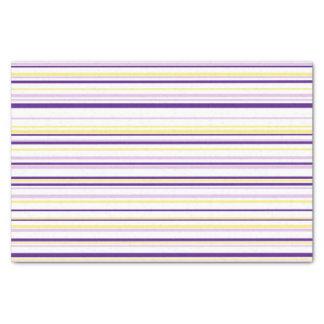 Purple & Yellow Stripe Tissue Paper