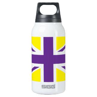 Purple Yellow Union Jack British(UK) Flag Insulated Water Bottle