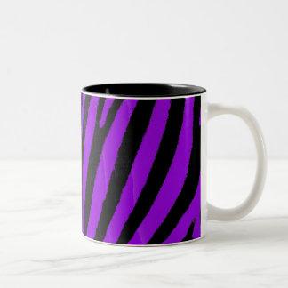 Purple Zebra Two-Tone Coffee Mug