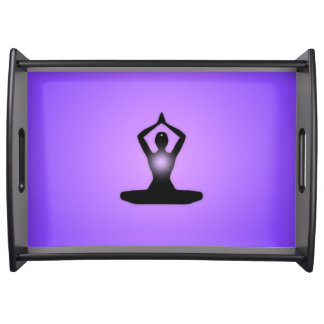 Purple Zen Meditation Sunburst Serving Tray