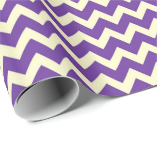 Purple Zig-Zag Wrapping Paper