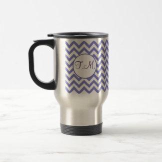 Purple Zigzag Monogrammed Mugs