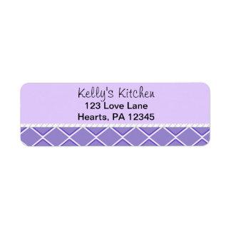 Purple Zigzag Return Address Label
