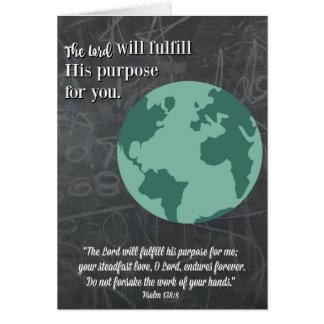 Purpose-Religious Graduation Card