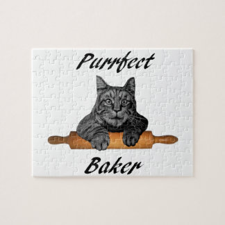 Purrfect Baker Cat Gifts crazy cat lady Jigsaw Puzzle
