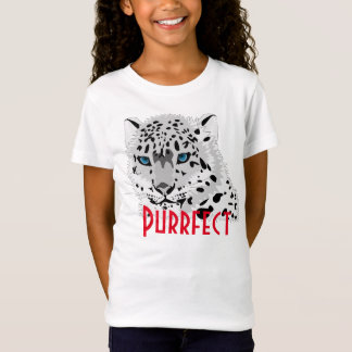 """Purrfect"" snow leopard graphic T-Shirt"